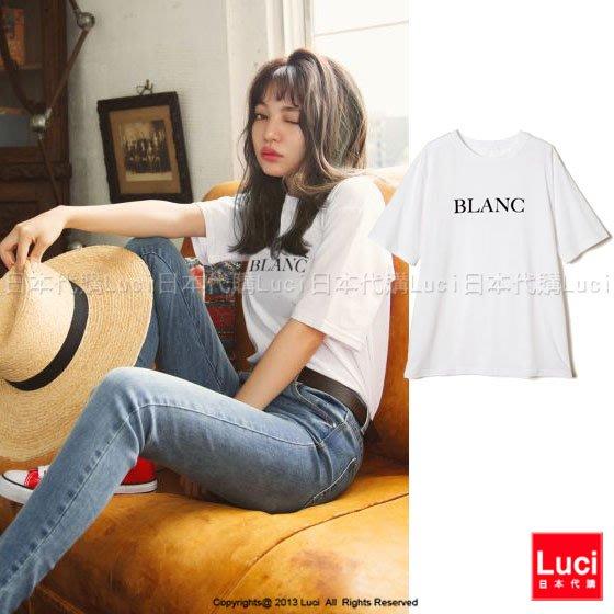 上衣 BLANC英文字短袖T恤   英文字tee 日雜款 潮T LUCI日本代購 [te323kao]