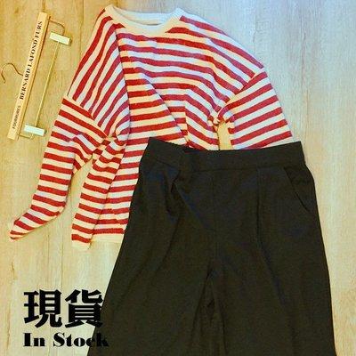 ⭐現貨清倉特價⭐波蘭RESERVED 鬆緊腰素面黑寬褲裙 七分褲 針織棉 XL寬鬆大碼#4195