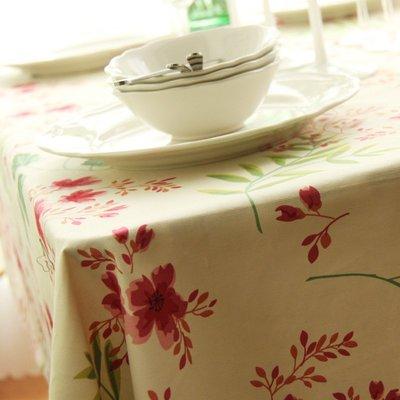 戀物星球 純棉布料田園布料櫻桃花朵手工窗簾抱枕桌布亞麻沙發布 棉布布料