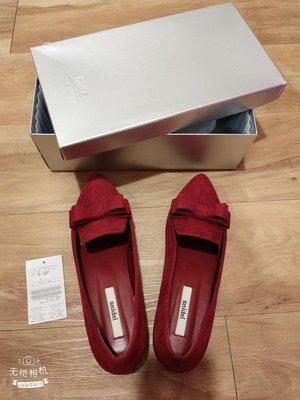 麂皮 尖頭楔型鞋M號
