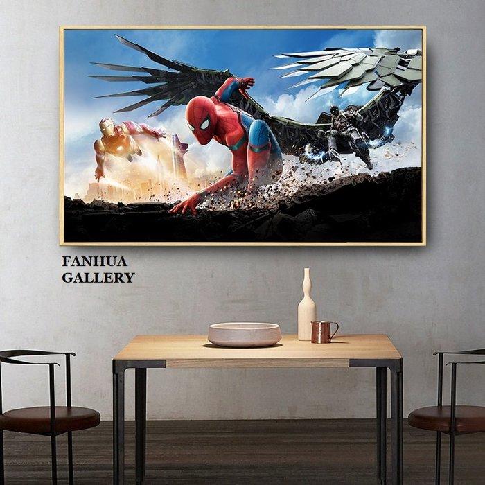 C - R - A - Z - Y - T - O - W - N 漫威英雄人物掛畫復仇者聯盟蜘蛛人鋼鐵人電影裝飾畫版畫