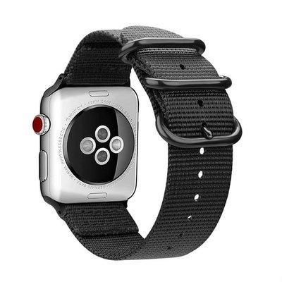 【3C殿堂】Apple Watch 1 2 3 4 錶帶 尼龍 iwatch NIKE+ 錶 運動 粗曠 帆布 防水