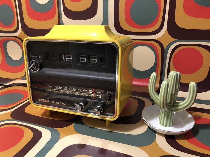 [售出] 1973年製-太空時代翻頁鐘收音機 SEIKO SDRA-842
