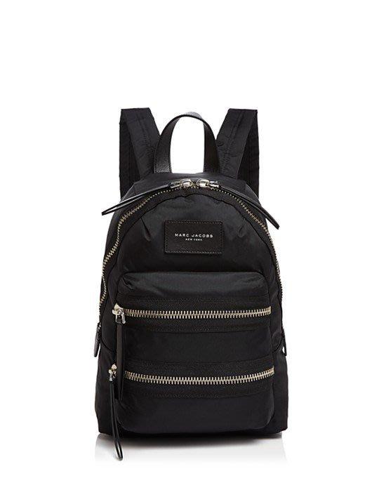 美國名牌MARC JACOBS Backpack專櫃新款黑色防水尼龍後背包(小款)現貨在美特價$5600含郵