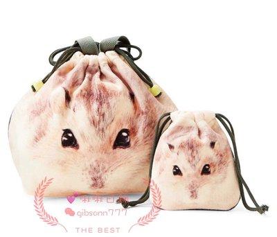 《啾啾日舖》現貨 日本 原裝進口 可愛土撥鼠 大小 收納包 收納袋 小袋 束口袋