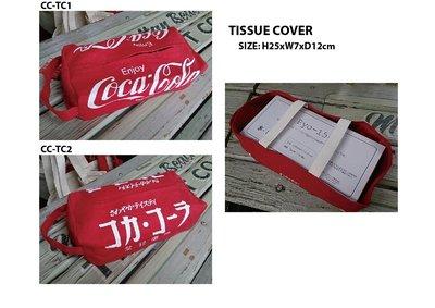 (I LOVE樂多)美國進口 Coca-Cola 可口可樂帆布衛生紙包 掛車掛家任由你 送禮自用兩相宜