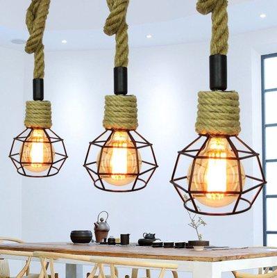 工業風LOFT麻繩美式鄉村吊燈 咖啡廳.酒吧.創意餐廳.咖啡廳造型設計師燈具(不含燈泡) by 我型我色