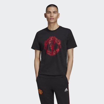 【豬豬老闆】ADIDAS MANCHESTER UNITED 黑紅 曼聯 短袖 短T 休閒 運動 男款 FR3840