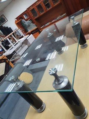 新竹二手家具買賣 總店來來 四尺 玻璃 長方形 茶几~新竹搬家公司|竹北-新豐-竹南-頭份-2手傢電 買賣 實木-沙發-衣櫥-床架-床墊-冰箱-洗衣機-電視櫃