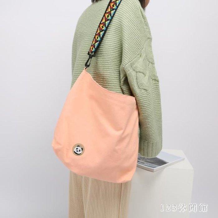 托特包手工布包簡約小清新帆布包女包文藝學生包包單肩斜跨包潮 LH2334