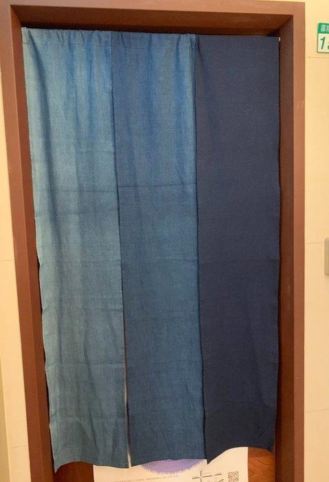 !中國藍Anewei藍染漸層染門簾-90*150cm-自由配玩色美學.萊爾富免運