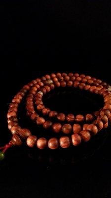 收藏級沉水肖楠108顆手珠(產區三峽滿月圓)佩珠:翡翠
