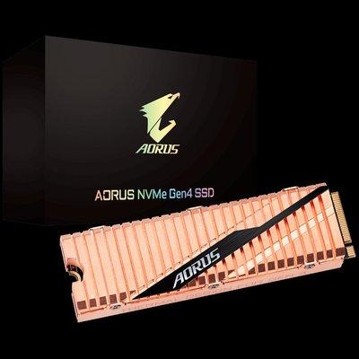 『高雄程傑電腦』技嘉 AORUS NVMe Gen4 SSD 500GB GP-ASM2NE6500GTTD【客訂商品】