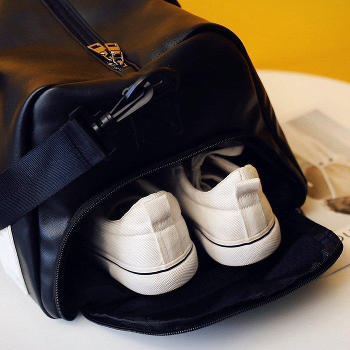 ☜男神閣☞短途旅行包男出差手提包女大容量旅游包簡約行李包袋防水健身包潮