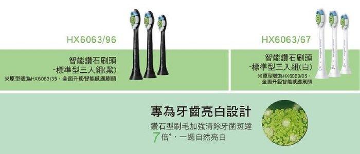 【美國製造】 PHILIPS 飛利浦智能鑽石標準刷頭 HX6063/67 適用HX6710/HX6730/HX6761