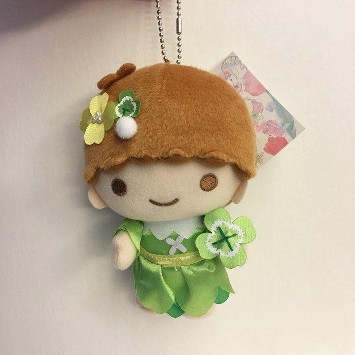 ^燕子部屋 ^正版 【雙子星】KIKI毛絨玩偶珠鍊吊飾-花朵