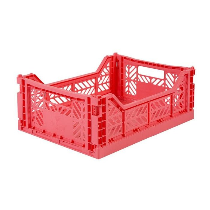 WaShiDa【4314】6-23 AY KASA MIDIBOX 土耳其製 折疊 收納籃 中型 - 杏桃粉 現貨
