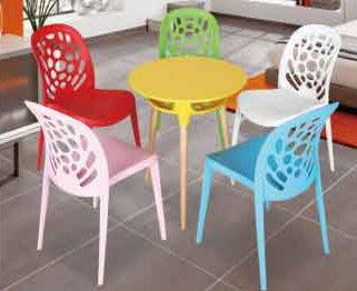 【南洋風休閒傢俱】歐式餐桌椅桌系列 -泡泡餐桌椅組 筷子餐桌椅組 塑料造型桌椅組 一桌四椅組 562-10