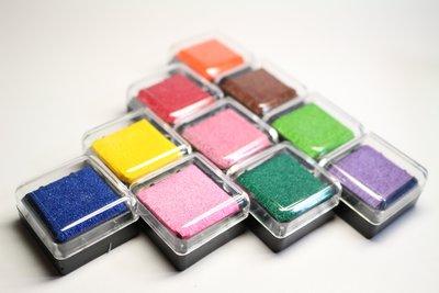 【雅特手作】彩色印台(印泥)套組/十色 型染版上色、蓋印章
