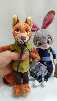 23公分動物方程式玩偶(狐狸//兔子)