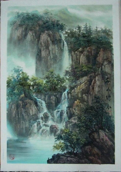 古 藝 閣 大 陸 著名國畫大師  謝思雨  巷山野水