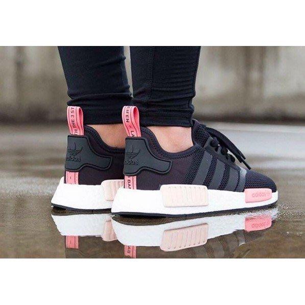 【老夫子】Adidas NMD RUNNER R1 黑面 粉色 3M 反光 BOOST底