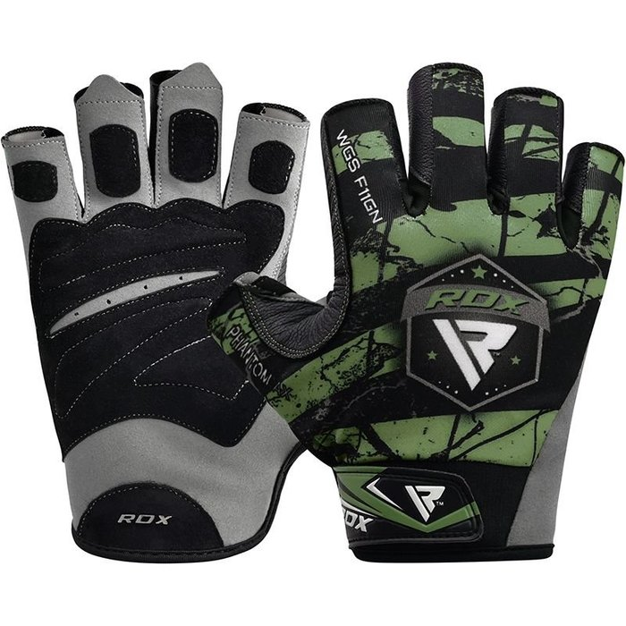 【線上體育】RDX GYM GLOVES SUMBLIMATION F11 GREEN RDX012