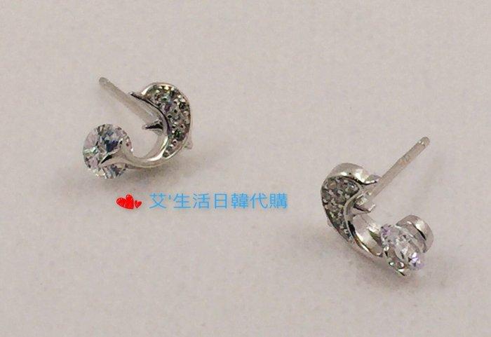 現品 香港正生銀飾鋯石耳環系列