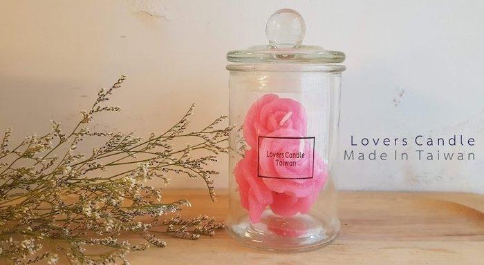 圓形玻璃容器*1+小玫瑰蠟燭*4【蠟燭DIY材料/手工藝】