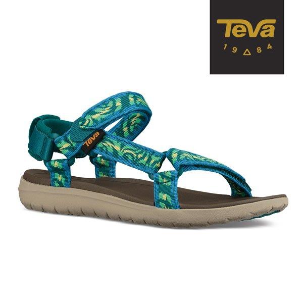 丹大戶外【TEVA】美國 Sanborn Universal 經典緹花織帶涼鞋 女 圖紋湖水藍 1015160TDLML