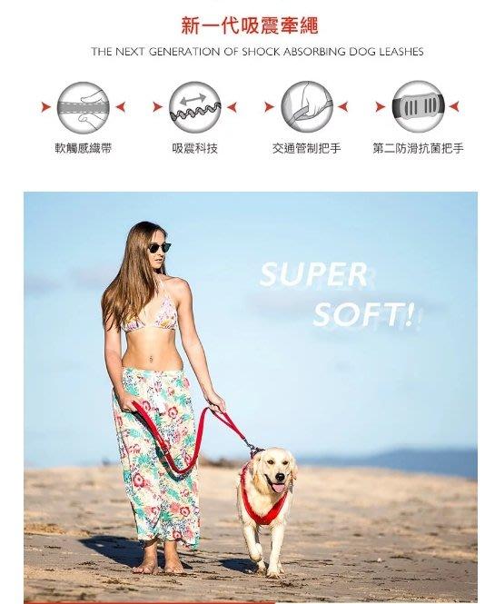 汪旺來【免運】澳洲EZYDOG零拉力牽繩48''(120cm)中大型犬-八種顏色-胸背項圈需另外訂購-牽繩/拉繩/狗繩