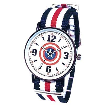 正版原廠 MARVEL 授權 台灣限定製造 曼威英雄 美國隊長 Captain America 手錶 日本機芯