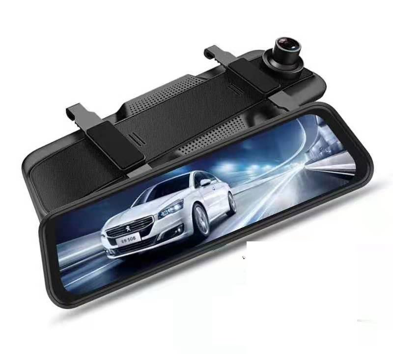 10寸流媒體后視鏡1080P高清夜視雙鏡頭 2.5D全屏倒車影像