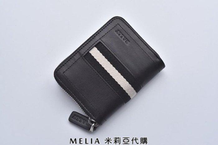 Melia 米莉亞代購 bally 貝利 2108新款 春季新品 真皮 牛皮 短夾 零錢包 衝評價$1680 黑色