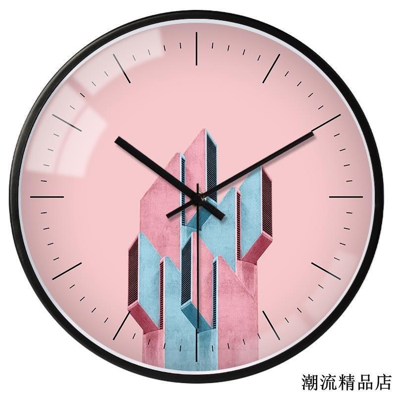 北歐創意個性藝術掛鐘時尚藝術裝飾會議室客廳家用臥室靜音鐘表