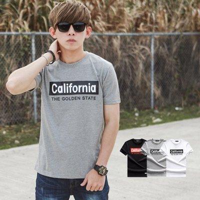 柒零年代【NB0494J】California文字短T(JJ9381)