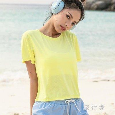 哆啦本鋪 跑步運動罩衫 健身瑜伽短袖上衣透氣美背T恤訓練服女 4555D655