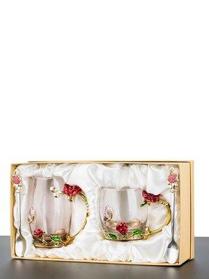 水杯 保溫杯琺瑯彩水杯套裝耐熱玻璃杯帶蓋水杯子創意啤酒杯花茶杯家用大禮盒