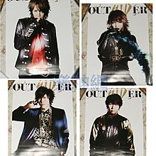 SID OUTSIDER【原版宣傳海報: 4款合售】全新! MAO Aki Shinji YUYA