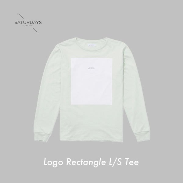 WASHIDA【LS01】SATURDAYS NYC 美國品牌 Logo Rectangle L/S Tee 長袖衛衣