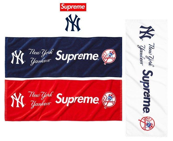 【超搶手】全新正品 2015 SS 春夏 聯名 Supreme Yankees Hand Towel 紐約洋基 毛巾