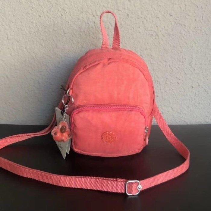 Kipling 猴子包 mini 12673 粉橘 多用肩背斜背輕量雙肩後背包 小號 防水 限時優惠