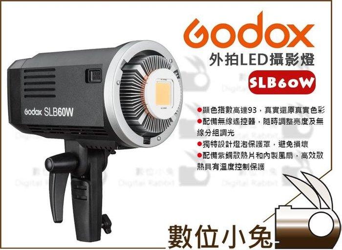 數位小兔【GODOX 神牛 SLB-60W LED 攝影燈 x2 兩盞 + 專用收納袋】棚燈 持續燈 太陽燈