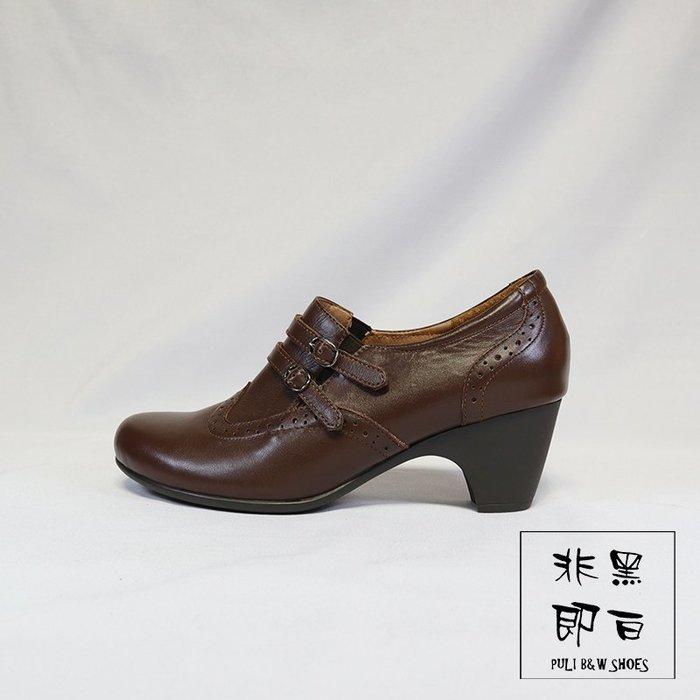 【非黑即白】#零碼#出清#MIT台製女士古典踝靴 短靴 咖啡色 219333