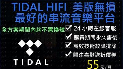 新活動 小白網路 Tidal HIFI美版 6個月方案帳號客製化無損音質無損音樂耳機KKBOX發燒友DAC音樂