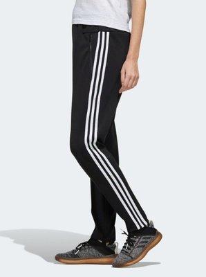 =E.P=ADIDAS ID SWEAT PANTS 黑白 三線 休閒 拉鍊口袋 長褲 女款 ED1419