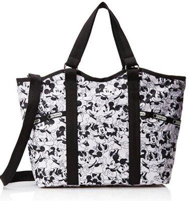 預購 美國正貨 Lesportsac*Disney 經典黑白迪士尼聯名限量款 托特包 側背包 肩背包 生日禮