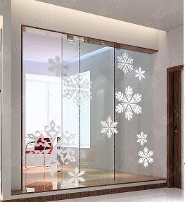 小妮子的家@聖誕雪花片壁貼/牆貼/玻璃貼/磁磚貼/汽車貼/家具貼