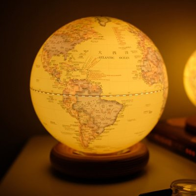 地球儀funglobe地球儀20cm學生用辦公室擺件AR智能帶燈小夜燈圣誕節禮品哆啦A珍