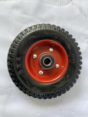 ㊣(三進車輪專業車輪零售批發)8x2inch 胎面 普通級萬年輪 手推車輪子-單輪賣場 台北市